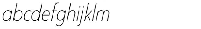 Corsica SX Cond Light Italic Font LOWERCASE