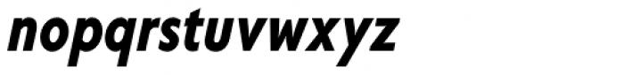 Corsica SX Cond SemiBold Italic Font LOWERCASE