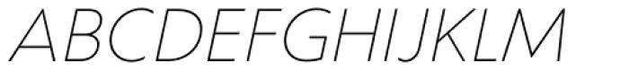 Corsica SX Light Italic Font UPPERCASE