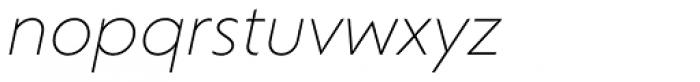 Corsica SX Light Italic Font LOWERCASE