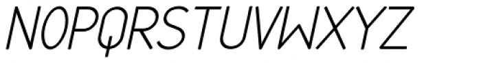 Cortex Italic Font UPPERCASE
