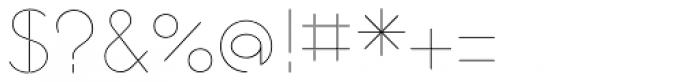 Cortex UltraLight Font OTHER CHARS