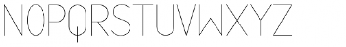 Cortex UltraLight Font UPPERCASE