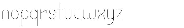 Cortex UltraLight Font LOWERCASE