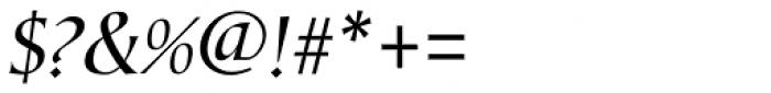 Corvallis Sans Oblique Font OTHER CHARS