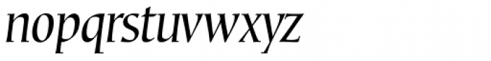 Corvallis Std Oblique Font LOWERCASE