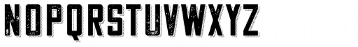 Cosmic Lager Rough Shadow Texture Font LOWERCASE