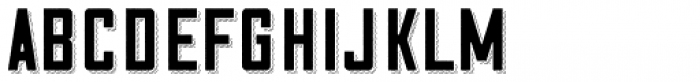 Cosmic Lager Rough Shadow Font LOWERCASE