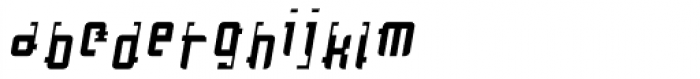 Cosmonaut Antigravity Oblique Font LOWERCASE