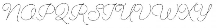 Cosmopolitan Script Light Font UPPERCASE