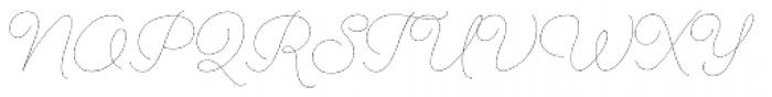 Cosmopolitan Script Thin Font UPPERCASE