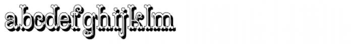 Costado Shadow Font LOWERCASE