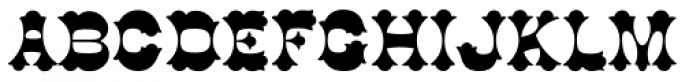 Cottonwood Medium Font UPPERCASE