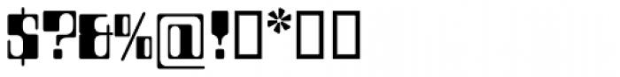 Countdown SH Regular Font OTHER CHARS