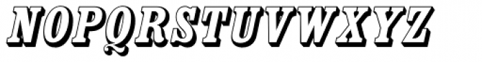 Country Western Italic Open Font UPPERCASE