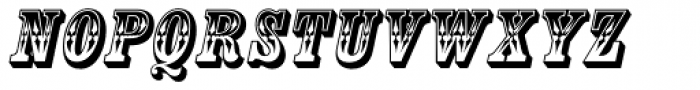 Country Western Italic Font UPPERCASE