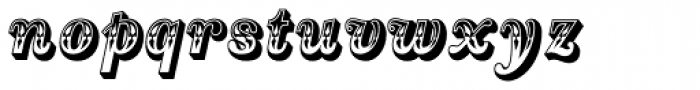 Country Western Italic Font LOWERCASE