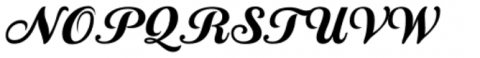 Country Western Script Black Font UPPERCASE