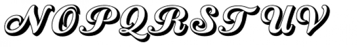 Country Western Script Open Font UPPERCASE