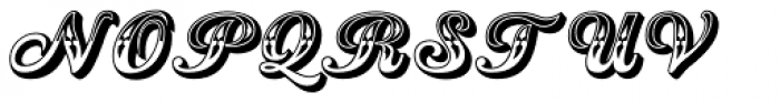 Country Western Script Font UPPERCASE