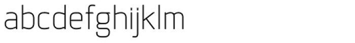 Coupe Thin Font LOWERCASE