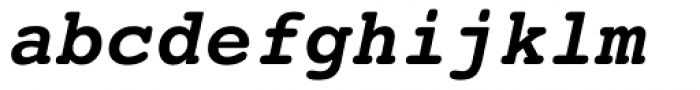 Courier 10 Pitch Bold Italic Font LOWERCASE