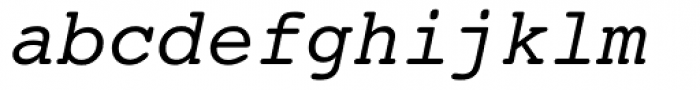 Courier 10 Pitch Italic Font LOWERCASE