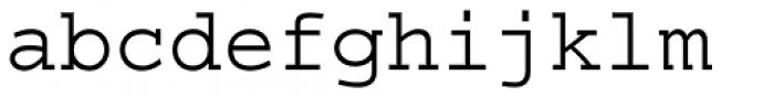 Courier LT Std Regular Font LOWERCASE