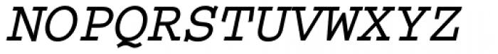 Courier M Bold Oblique Font UPPERCASE