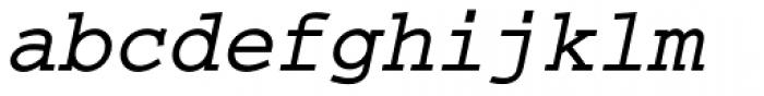 Courier M Bold Oblique Font LOWERCASE