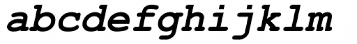 Courier New Bold Italic Font LOWERCASE