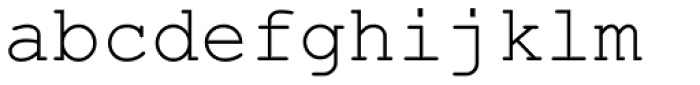 Courier New OS Regular Font LOWERCASE