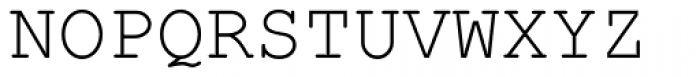 Courier New Font UPPERCASE
