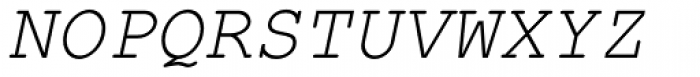 Courier PS Pro Italic Font UPPERCASE