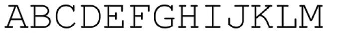 Courier PS Std Regular Font UPPERCASE