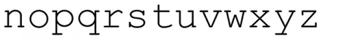 Courier PS Std Regular Font LOWERCASE