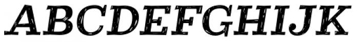Courtney Rough Italic Font UPPERCASE