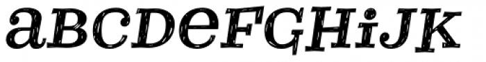 Courtney Rough Italic Font LOWERCASE