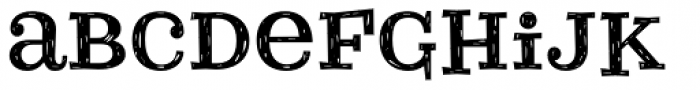 Courtney Rough Font LOWERCASE