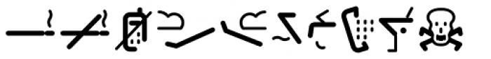 Covent BT Symbols Font UPPERCASE
