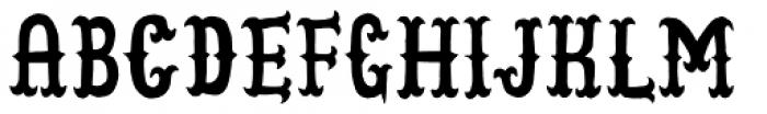 Cowboy Junk Font UPPERCASE