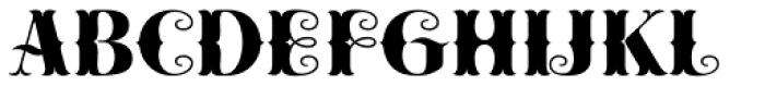 Cowboya Bifucated Font UPPERCASE