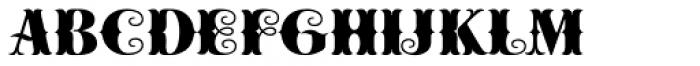 Cowboya Bifucated Font LOWERCASE