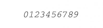 Courier M Light Oblique Font OTHER CHARS