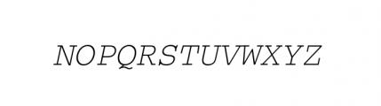 Courier M Light Oblique Font UPPERCASE