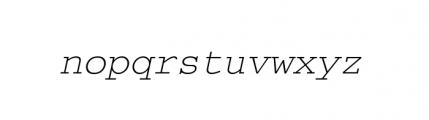 Courier M Light Oblique Font LOWERCASE