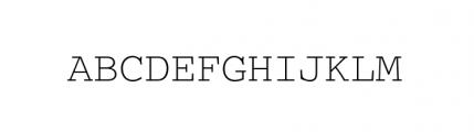 Courier M Light Font UPPERCASE