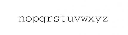Courier M Light Font LOWERCASE