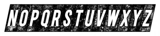 CPL Kirkwood Knockout Italic Font LOWERCASE