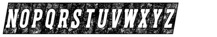 CPL Kirkwood Slab Knockout Italic Font LOWERCASE